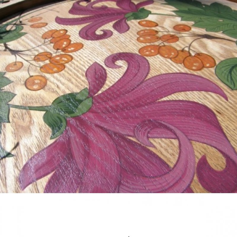 decor pictat art-nouveau (detaliu)